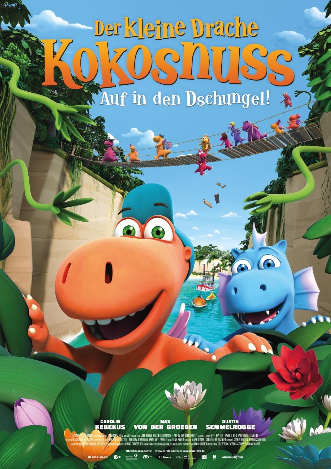 Der kleine Drache Kokosnuss - Auf in den Dschungel! kapak