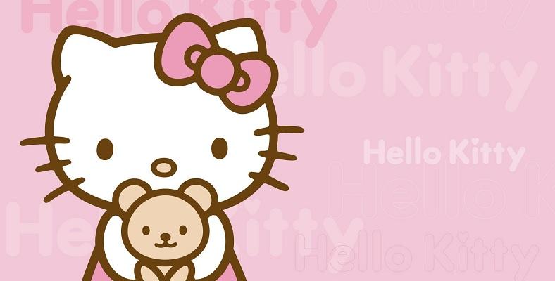 Hello Kitty Beyaz Perdeye Uyarlanacak