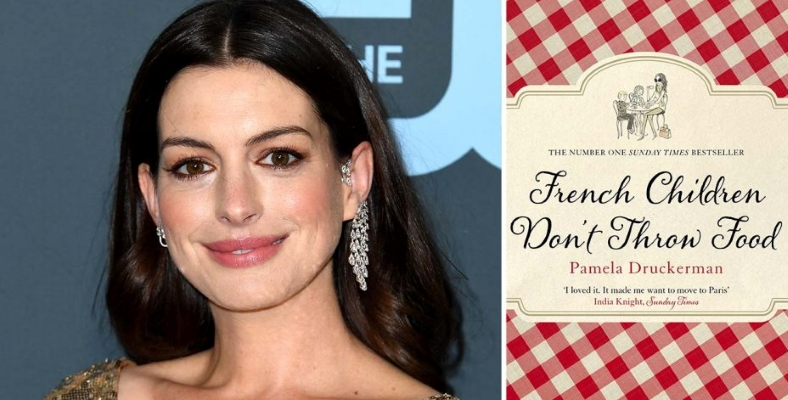 Anne Hathaway, French Children Don't Throw Food Filminin Kadrosunda